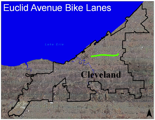 Euclid Avenue Bike Lanes Aerial View
