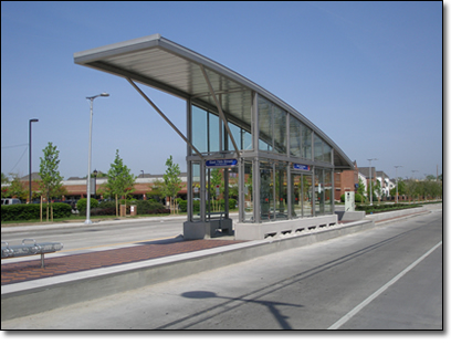 The Silver Line will operate in an exclusive center median busway with transit stops