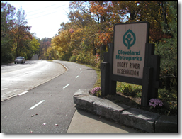 The entrance to Rocky River Reservation