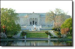 The trail passes near many of the cultural institutions at University Circle such as the Cleveland Museum of Art.