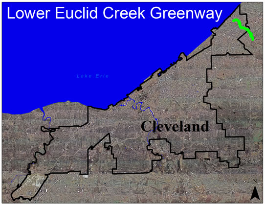 Lower Euclid Creek Greenway Aerial View