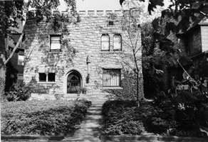 Schweinfurth House - East 75th elevation (black and white)