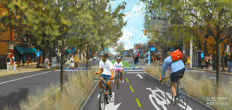 Cleveland's Midway Cycle Track TLCI
